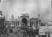 Court of Honor looking at Electricity Building at World's Columbian Exposition