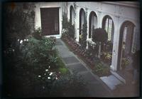 Conservatory in Peirce-du Pont house at Longwood from above
