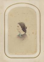 Unidentified woman with blue bow