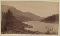 Unidentified river and mountains