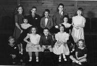 1950 du Pont family reunion children group portrait, Print No. 9
