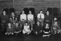 1950 du Pont family reunion children group portrait, Print No. 6