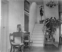 Stair hall photographed during trip of Charles Augustus Belin