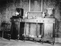 Federal style sideboard photographed during trip of Charles Augustus Belin