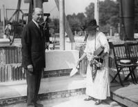 Mr. and Mrs. Pierre S. du Pont at Cornerstone Ceremony for Chester County Hospital