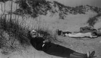 Picnic in the sand during Charles Augustus Belin trip