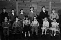 1950 du Pont family reunion children group portrait, Print No. 8