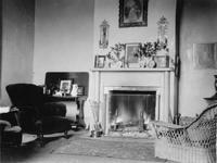 Parlor or sitting room photographed during trip of Charles Augustus Belin