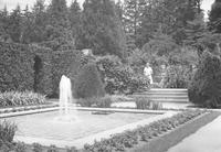 Formal garden square pool at Longwood
