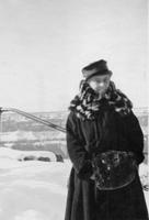 Alice Belin du Pont in the snow during Grand Canyon Trip, Arizona