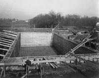Oil tank construction at Longwood