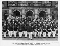United States Marine Band at the entrance to the Congressional Library