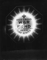 Red Cross War Fund illuminated sign during World War I