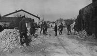 Soldiers and medical personnel in Chaumont during World War I