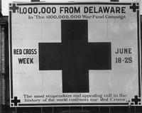Red Cross War Fund sign during World War I