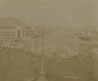 Court of Honor looking towards Statue of Republic and Peristyle at World's Columbian Exposition