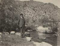 C. A. Belin at Sabino Canyon near Tucson, Arizona