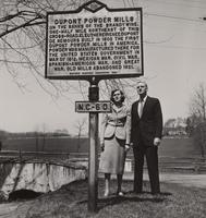 E. I. du Pont, III and Arminda du Pont with Historical Marker