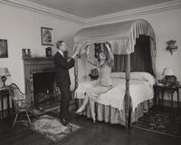 E. I. du Pont, III and Arminda du Pont in Bedroom at Eleutherian Mills