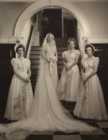 Rosa Packard Laird Hayward with her bridesmaids