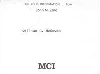 John M. Zrno to William G. McGowan