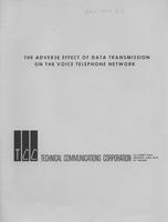 The Adverse Effect of Data Transmission on the Voice Telephone Network