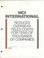 MCI International Reduces Overseas Telex Costs
