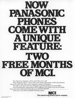 Panasonic Phones with Two Free Months of MCI