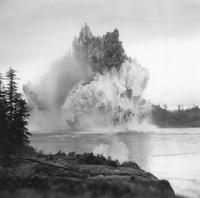 Ripple Rock in the Seymour Narrows being exploded