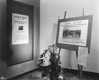 Display about DuPont involvement in WWI at DuPont Company exhibit in Atlantic City, New Jersey