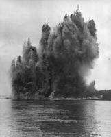 Blasting for pipe line in the Susquehanna River near Marietta, Pennsylvania