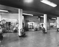Hallway of displays at DuPont Company exhibit in Atlantic City, New Jersey