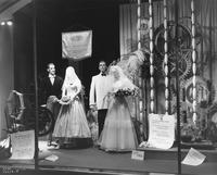 Display about wedding apparel at DuPont Company exhibit in Atlantic City, New Jersey