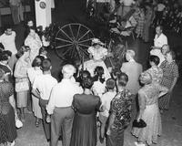 Spinning demonstration at DuPont Company exhibit in Atlantic City, New Jersey