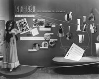 Display about American women at DuPont Company exhibit in Atlantic City, New Jersey