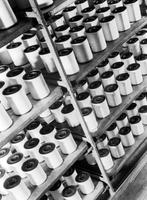 Rayon yarn on spools