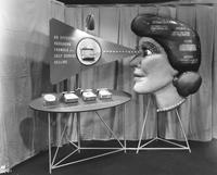 Cellophane product display at 1951 Packaging Show
