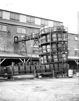 Gravity barrels for carrying empty barrels at Deepwater Point, New Jersey, plant