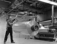 A mill roll of cellophane