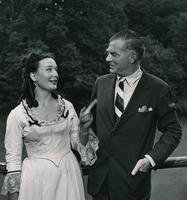 Henry B. du Pont and Sigrid Gurie, Hollywood star who portrayed role of Sophie, wife of company founder E.I. du Pont