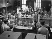 Analytical chemists at work in DuPont research laboratory