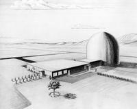 Artist conception of Plutonium Recycle Test Reactor, Hanford Engineering Works