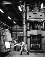 High speed forge press at DuPont Metals Center in Baltimore, Maryland