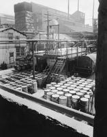 Tanks used for the storage of raw materials at camphor plant