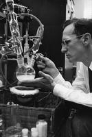 DuPont chemist watching an organic reaction