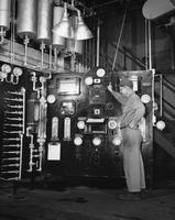 Control panels in DuPont's Jackson Laboratory at Deepwater Point, New Jersey