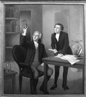 Image of painting hanging in Lavoisier Library