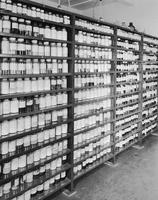 Section of chemical store room, Jackson Laboratory at Deepwater Point, New Jersey