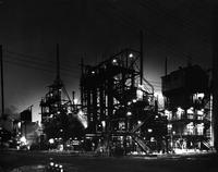 DuPont Chambers Works facilities at Deepwater Point, New Jersey at night