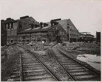 Rear of textile plant at Waynesboro, Virginia, during final stages of completion